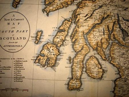 1787 Stunning Large John Cary Map Scotland